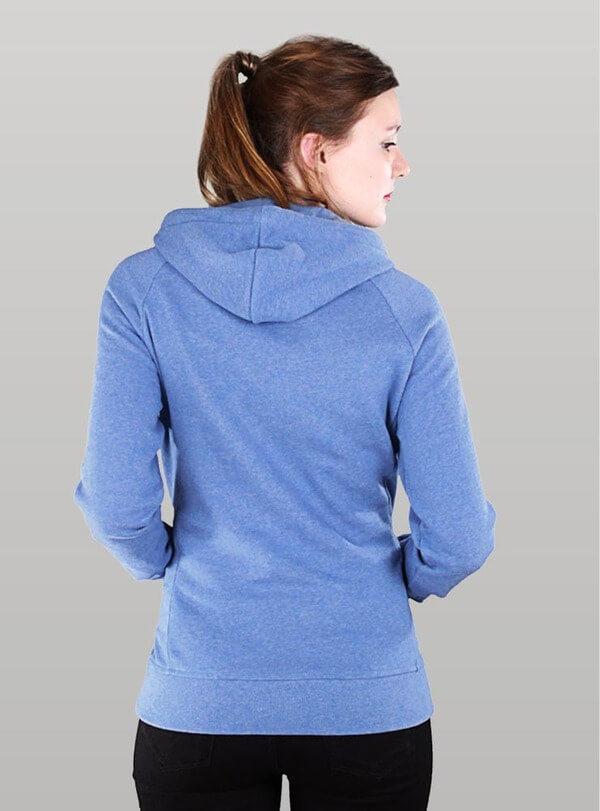 Mikina s kapucí MELAWEAR modrá