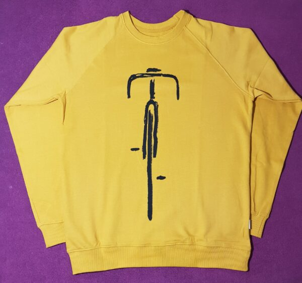 Pánská mikina Dedicated Molmoe mustard cyklo