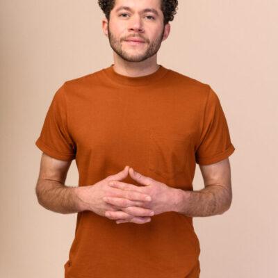 Pánské tričko Liem hnědé
