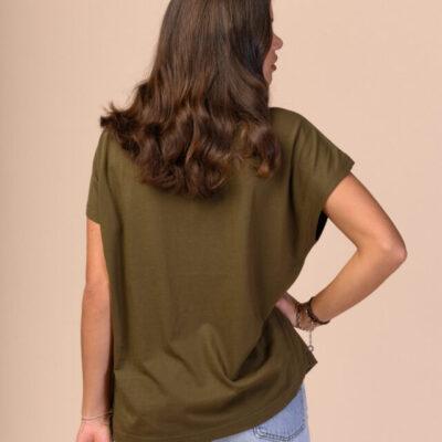 Dámské tričko Madhu khaki