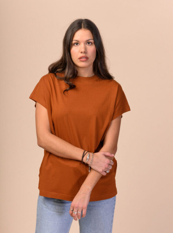 Dámské tričko Madhu hnědé