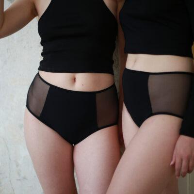 Sayu Menstruační kalhotky do pasu s transparentními boky